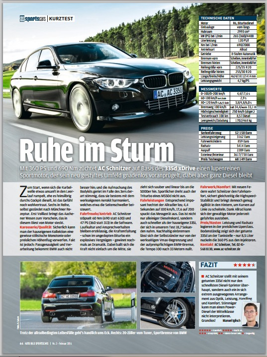 Acs3 335d Short Test From Auto Bild Sportscars